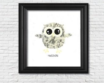 Owl Kids Collage (12x12)