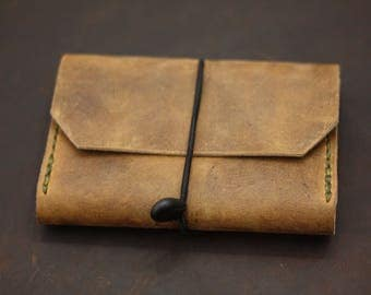 Leather Journal, Full Grain US Leather holds two journals.