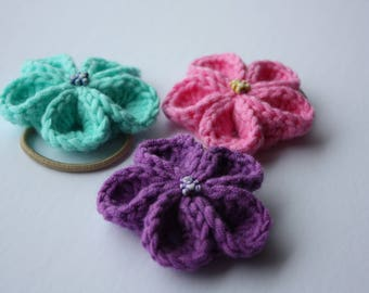 Set of 3 Crochet hair elastic
