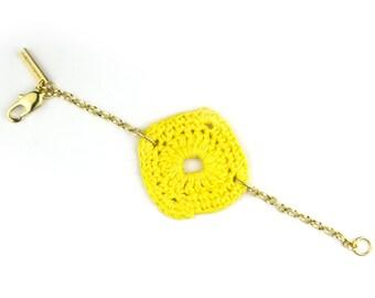 Large chain charm bracelet