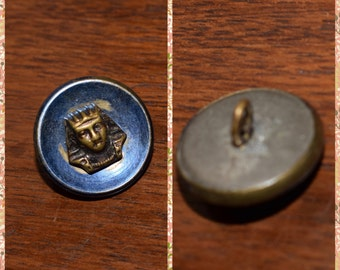 button former metal blue Center Pharaoh antique button