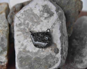 Stone Serious Pendant Swarovski Crystal