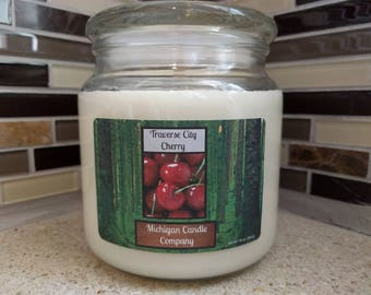 16 oz Soy Candle - Traverse City Cherry - The Michigan Candle Company