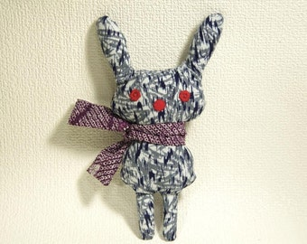 free shipping. remade .soft toy.  ugly. cute. Stuffed Animal. vintage kimono.yukata.