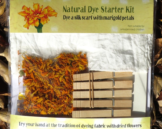 Natural Dye Starter Kit with marigold petals