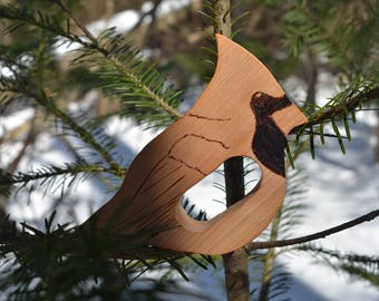 All Natural Wooden Cardinal Teether Toy