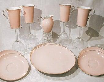 Pretty Pink Noritake lunch set