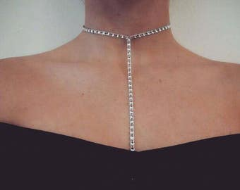 One Tier Silver T-Bar Choker