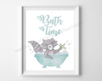 Kids Bathroom Prints, Kids Bathroom, Bath Time, Bath Prints, Bathroom Prints, Safari Animals, Nursery Decor, Kids Wall Art, Jungle Theme