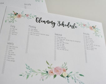 Spring Cleaning, House Cleaning Checklist (Printable)