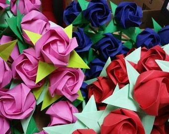Handmade paper rose (3 stalks)