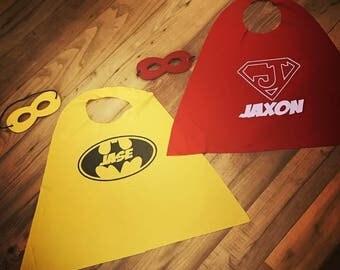 Custom Birthday Superhero Capes and Masks