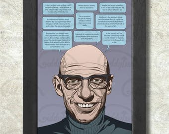 Michel Foucault Poster Print A3+ 13 x 19 in - 33 x 48 cm  Buy 2 get 1 FREE