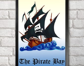 The Pirate Bay Poster Print A3+ 13 x 19 in - 33 x 48 cm  Buy 2 get 1 FREE