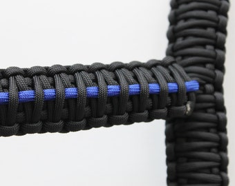 "Thin Blue Line 10"" Paracord Jeep Grab Handles"