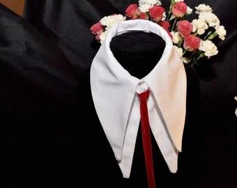 Straight White Double Collar