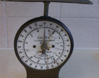 Antique Salter No. 11 Letter Balance Postal Scale England