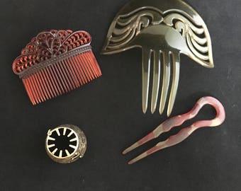 Vintage hair combs/pins- set of 4