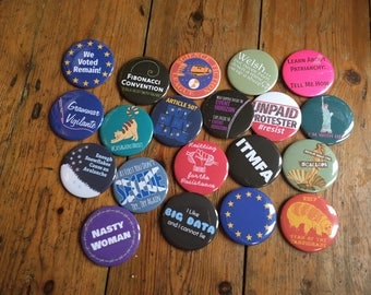 Any TWENTY of my pinback button badges