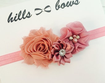 Baby Girl Headband, Baby Headband Flower, Baby Bows, Newborn Headband, Baby Flower Headband, Baby Hair Bows, Infant Headbands