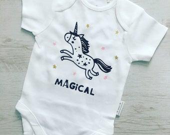 Unicorn baby vest, unicorn baby girls clothes, unicorn girl, unicorn baby vest, baby vest, baby girl, baby girls vest, unicorn clothes