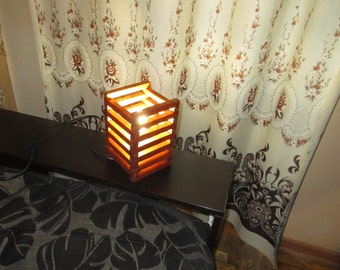 Wooden reading lamp, wood table lamp, desk lamp, rustic style, office lamp