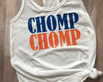 CHOMP CHOMP/ Orange & Blue Tank Top