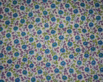 Vintage floral fabric accent or background 1 yard precut