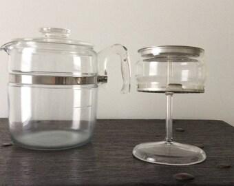 Vintage 9 -cup PYREX Percolator Coffee Pot / 7759 B / Retro / Mid Century