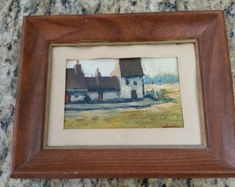 Vintage acrylic painting by Woodman