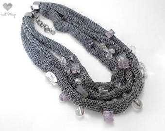 Grey socks 3 necklace