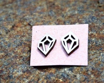 Geometric Wood earrings