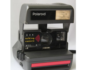 Vintage Polaroid 636 talking camera, Polaroid Camera, Vintage Camera,Retro Camera, Retro photoCamera, Polaroid, Polaroid 636, talking camera