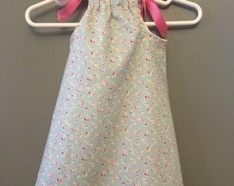 Baby girl floral Easter pillowcase dress spring dress floral dress infant Easter dress