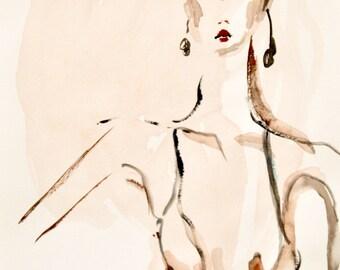 Fashion illustration - Art - Painting - Portrait