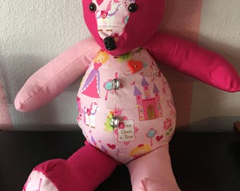 Memory bear with personalized names and dates