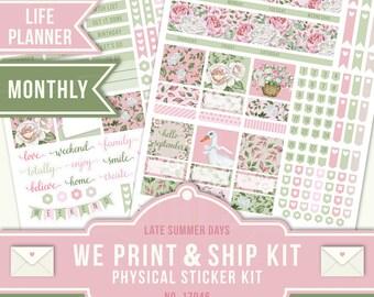 Erin Condren September, September Planner Stickers, September Monthly Sticker, Flower Planner Sticker, Erin Condren Monthly Planner, 17046