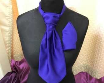 Cravat and Hankie -pick from 30 different colours