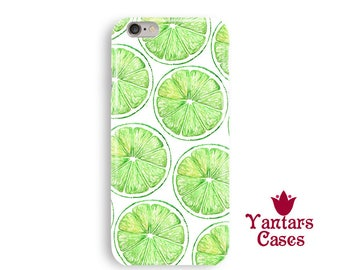 Lime iPhone 8 case green citrus iphone 6 case art iPhone 7 case tropical iphone 7 Plus case iphone 6 Plus case protective iPhone X cases