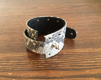 python leather bracelet