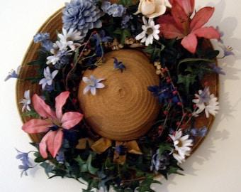 Vintage Hat Spring Wreath