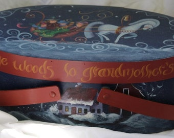 Painted Christmas Hatbox