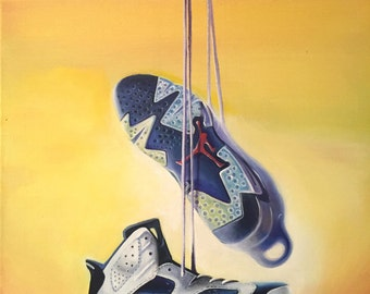 These are hand made original paintings of your favorite shoes.