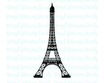 Eiffel Tower svg Paris | Cutout, Vector art |  Cricut, Silhouette Cameo, die cut, instant download | Digital Cut, Print Files,