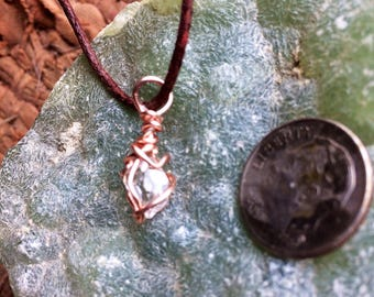Herkimer Diamond Wire Wrapped Pendant