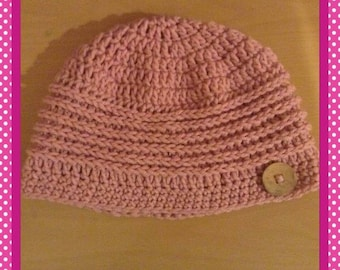 Beautiful Crochet Hat with Button