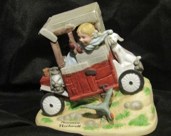 "Norman Rockwell ""Soap Box Racer"" figurine (1979) - Danbury Mint - Hand Painted - Handcrafted Fine Bisque Porcelain"