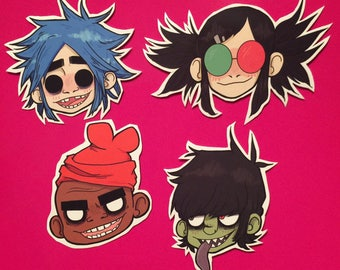 GORILLAZ STICKERZ SET