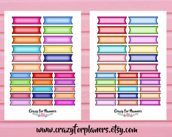 Printable Planner Stickers, Cut Files, Instant Download, Silhouette Cameo, Planner Stickers. Functional Stickers, Digital, Printables
