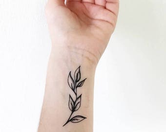 Leaf - Temporary Tattoo